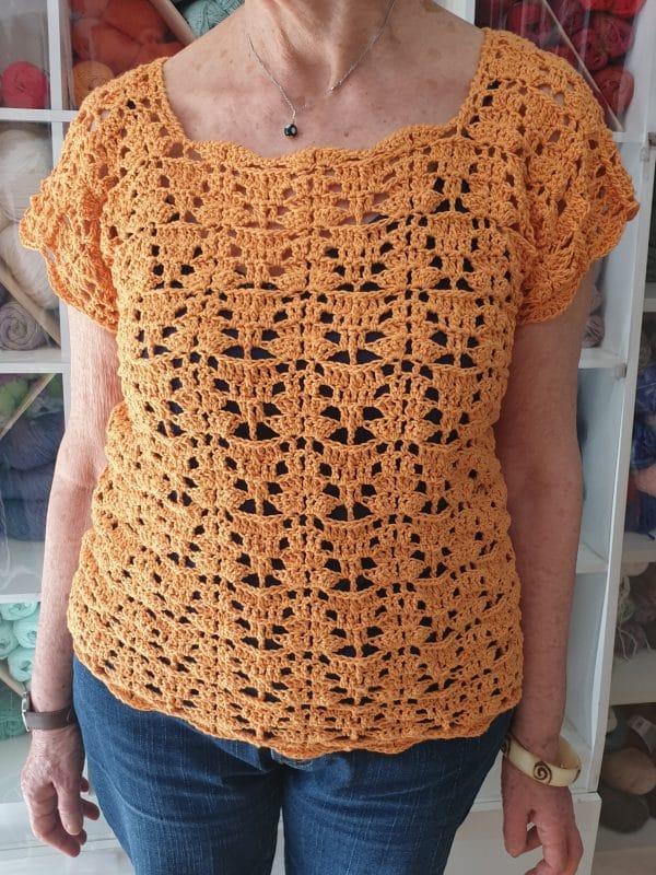 camisola em crochê feito por uma cliente Camisola em crochê feito por uma cliente 20190528 175554 600x800